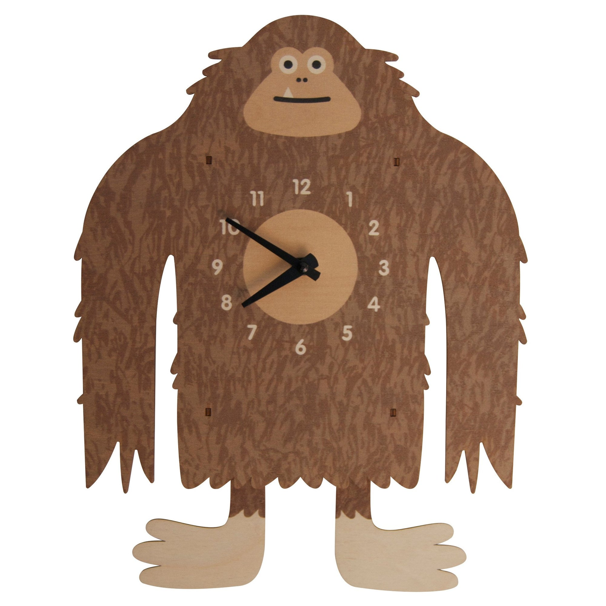 Modern Moose Big Foot Wooden Pendulum Clock
