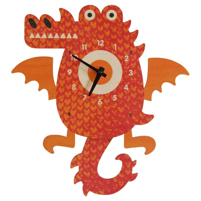 Modern Moose Dragon Wooden Pendulum Clock