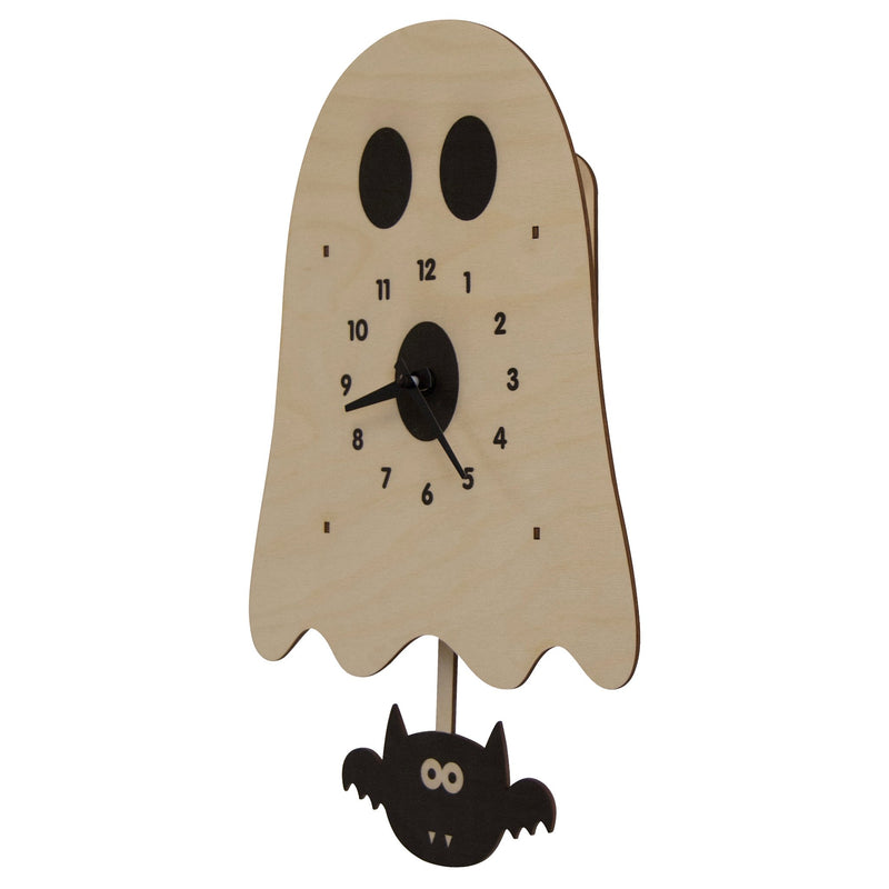 Modern Moose Ghost Wooden Pendulum Clock