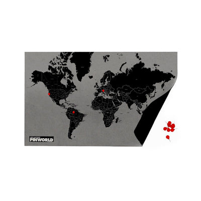 Palomar S.r.l. Pin World by Countries. Black Standard . 126x68cm