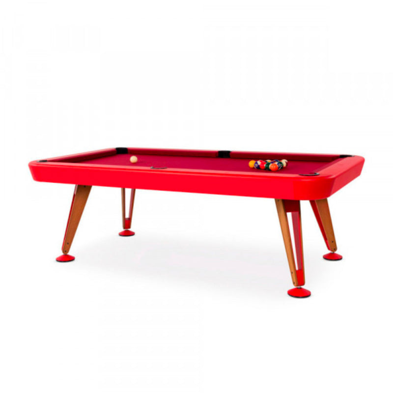 RS Barcelona Diagonal Pool Table , Red(RAL3020)