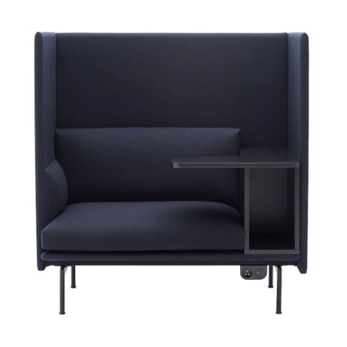 Muuto Outline Sofa Highback Black Base Right