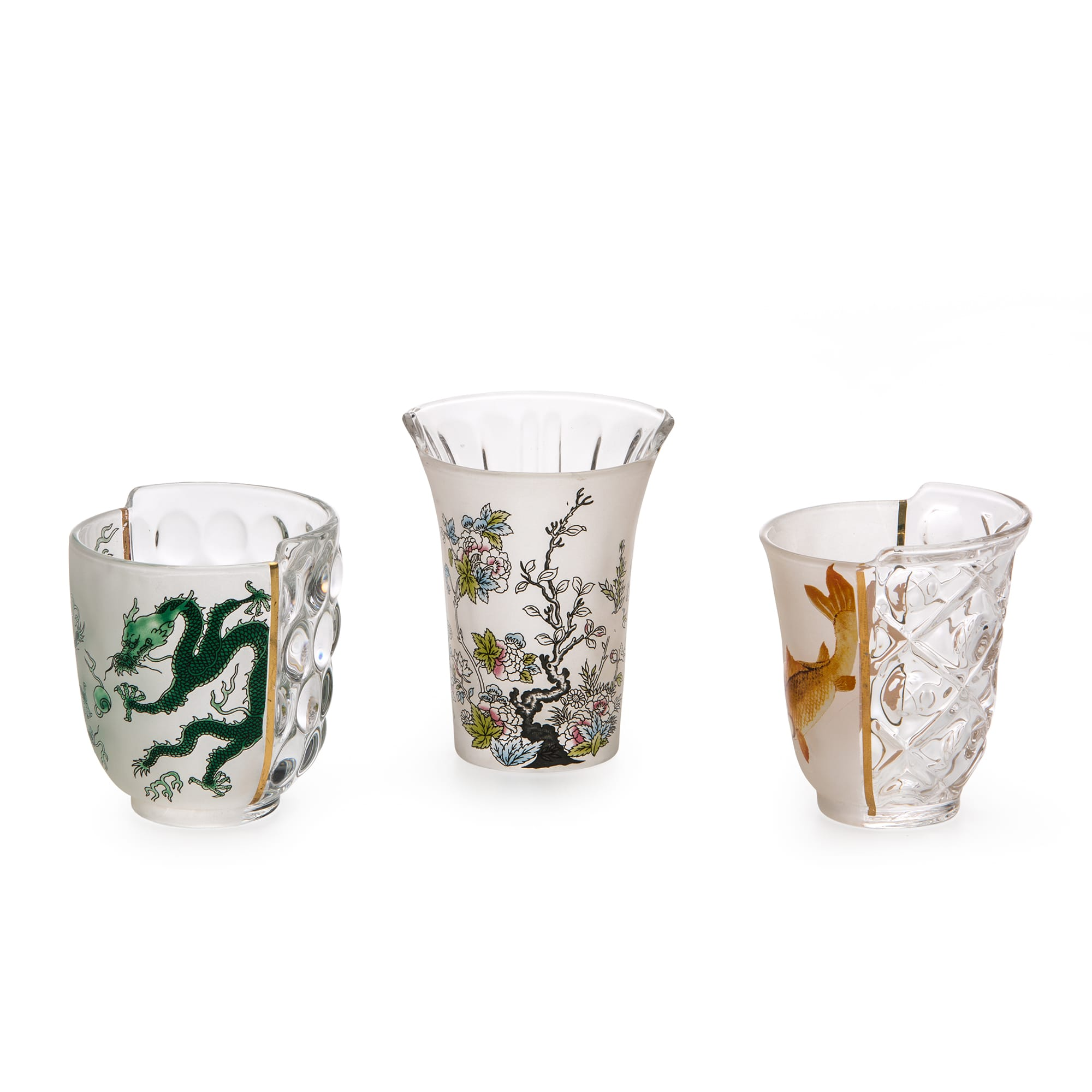 Seletti Hybrid Aglaura Glasses set of 3