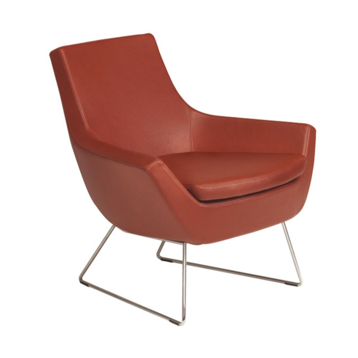 Swedese Happy easy chair low back brown leather