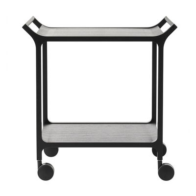 Swedese Teatime trolley with detachable tray black black