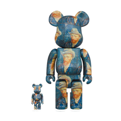 BE@RBRICK Van Gogh Museum Self-Portrait with Grey Felt Hat 100% & 400%