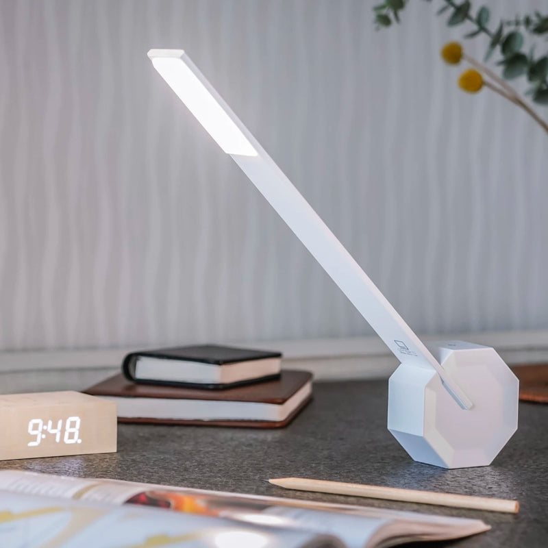 Gingko Octagon One desk lamp, white