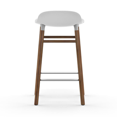 Normann Copenhagen Form Bar Stool 65cm Walnut Legs