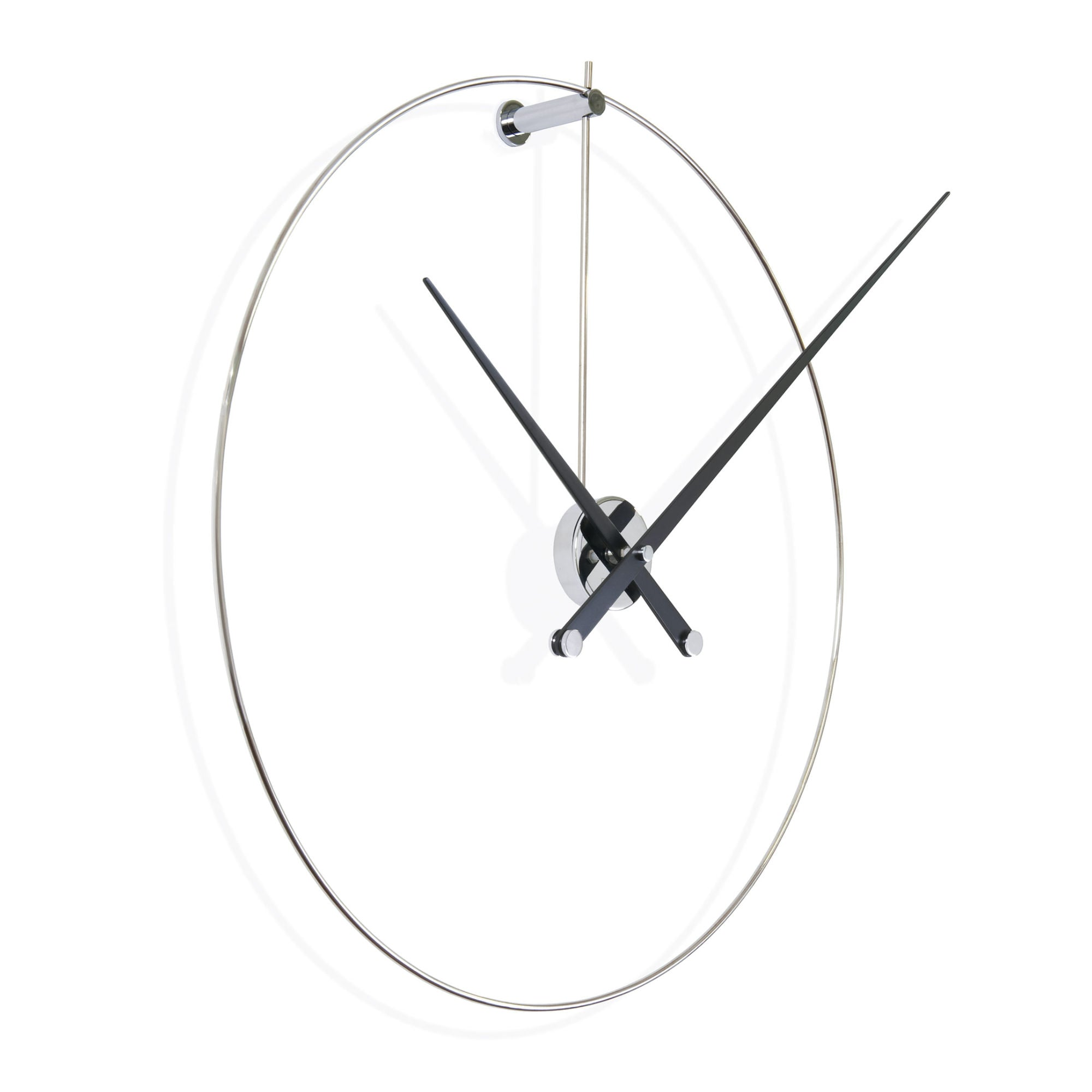Nomon New Anda Wall Clock , Steel-Black