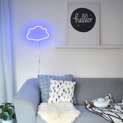 A Lovely Little Company Neon Style LED Light . Blue Cloud