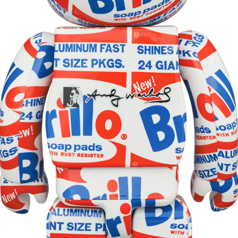 BE@RBRICK Andy Warhol Brillo 100% & 400%