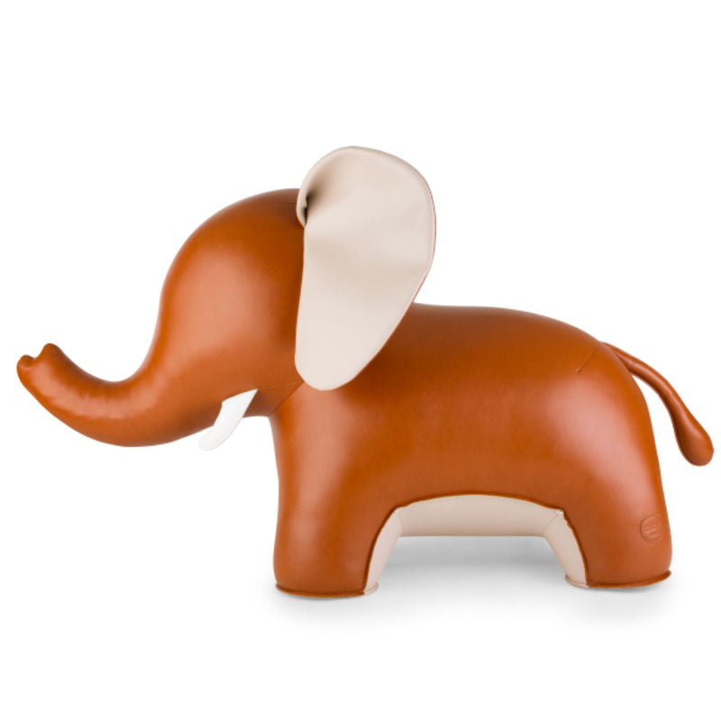 Zuny Elephant Abby II bookend, tan - wheat