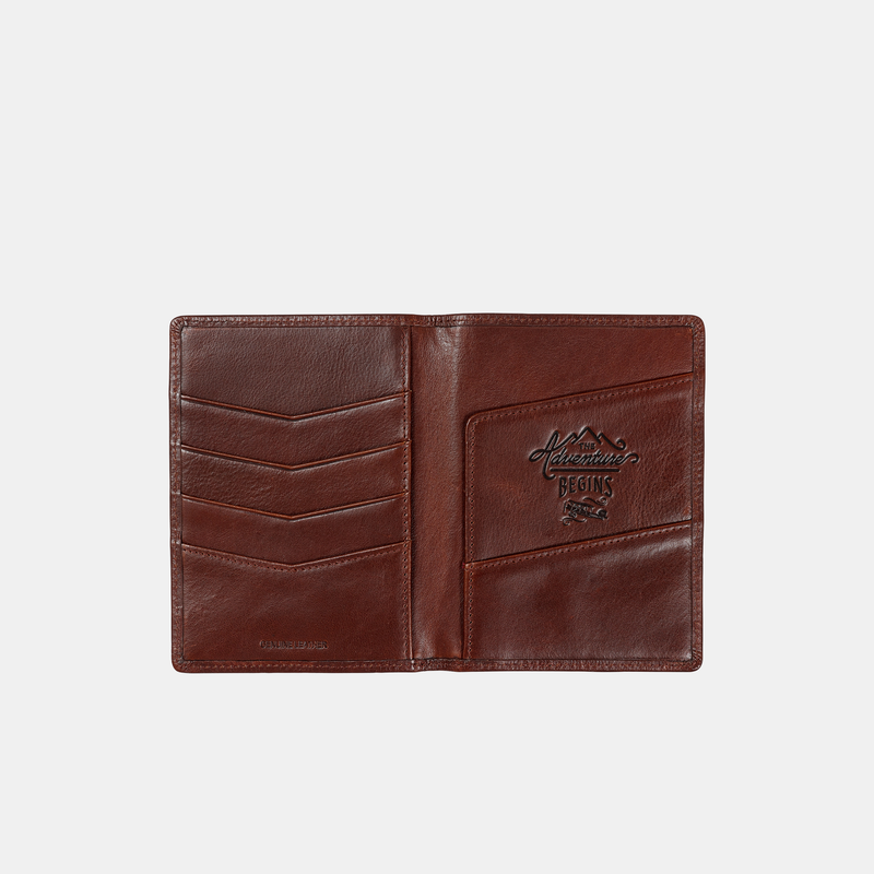 Wild and Wolf Travel Wallet Leather