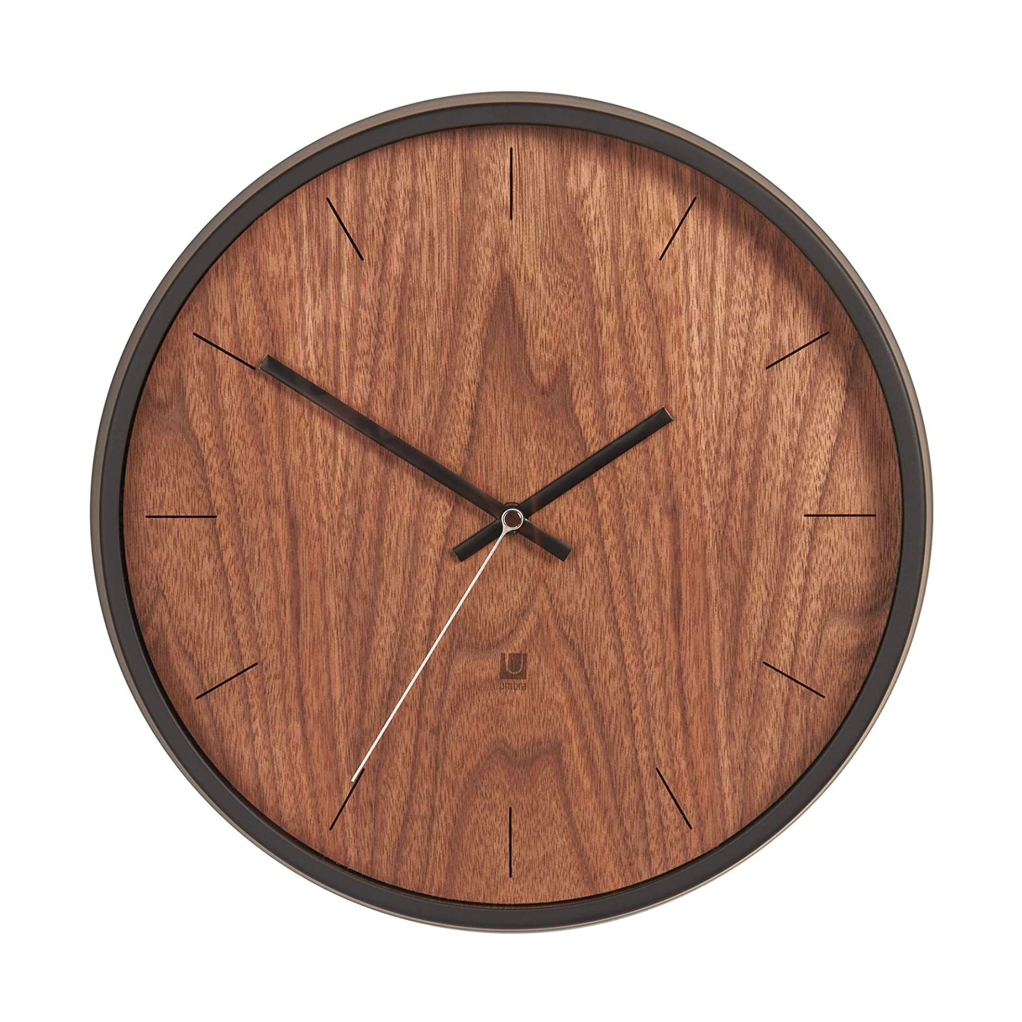 Umbra Madera wall clock, black - walnut