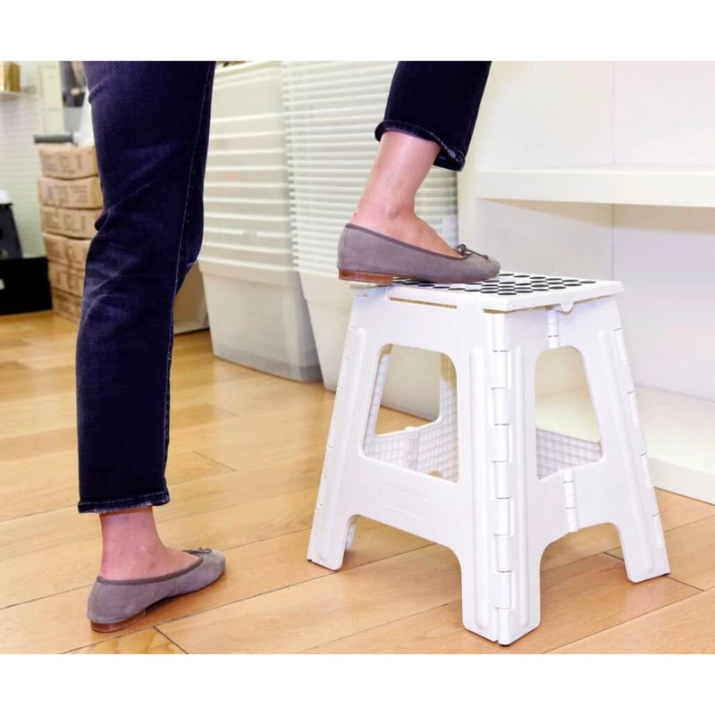 Kikkerland Rhino II Folding Step Stool 40cm , White