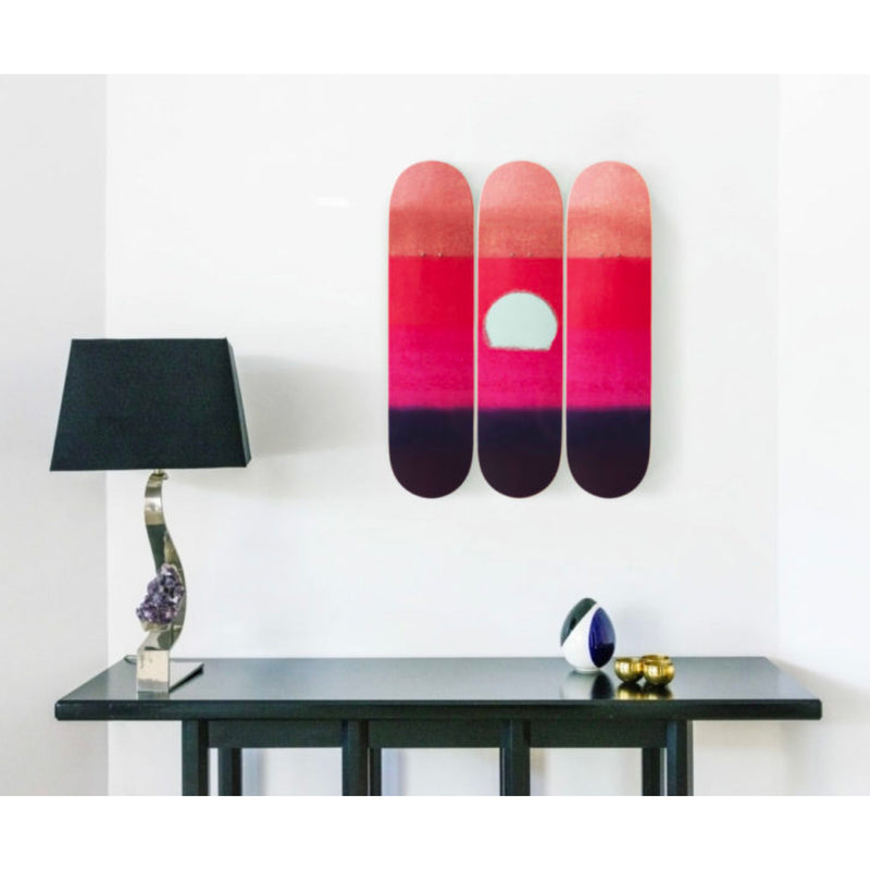 The Skateroom skateboard, Andy Warhol Sunset Purple