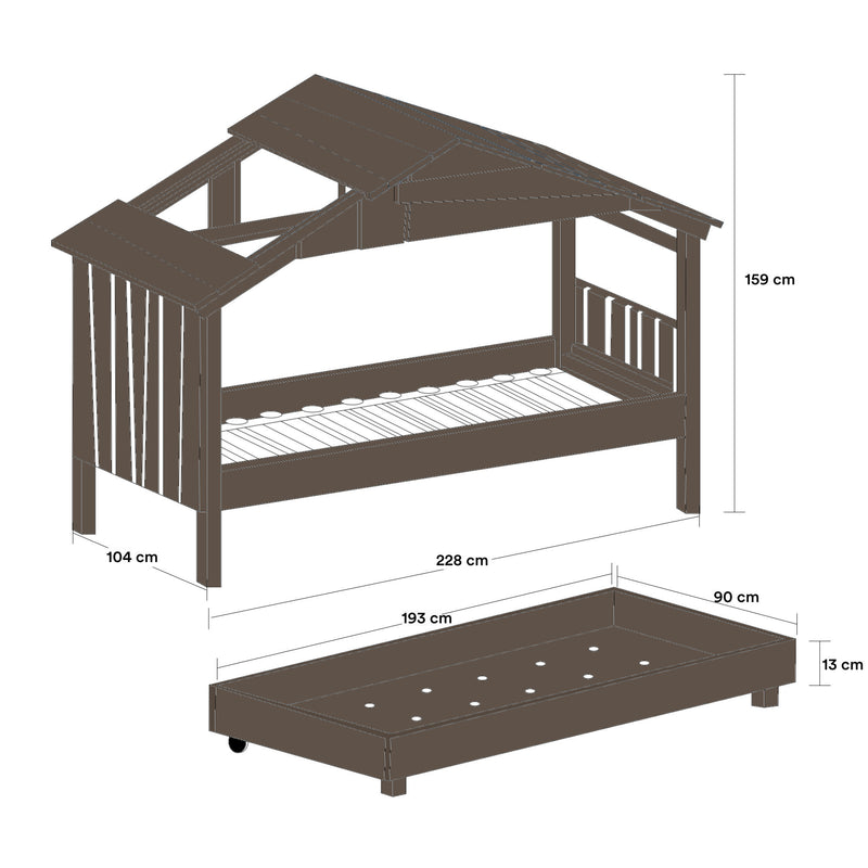 Mathy By Bols STAR Treehouse Pull-Out Bed , Artichoke