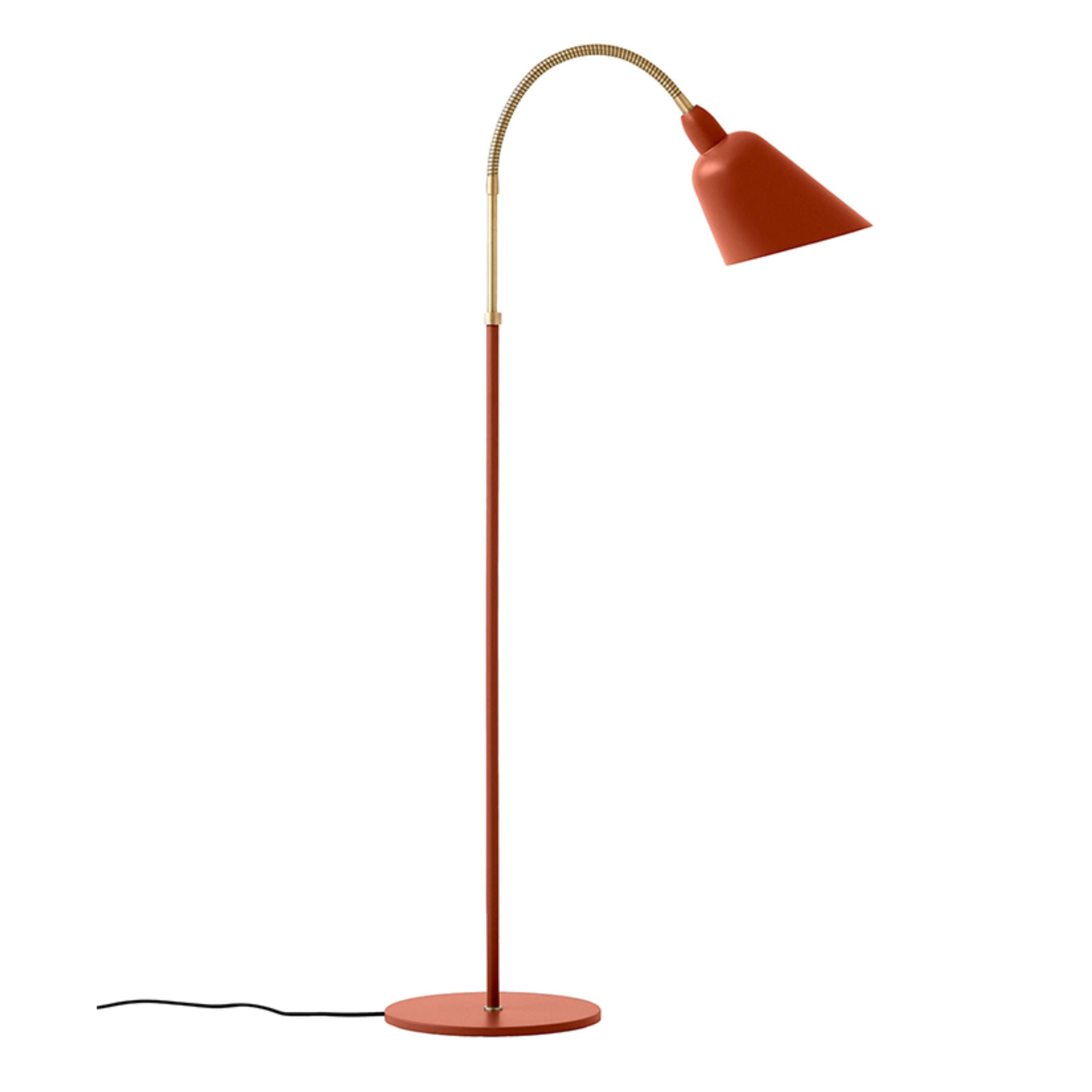 &Tradition AJ7 Bellevue Floor Lamp , Copper Brown/Brass