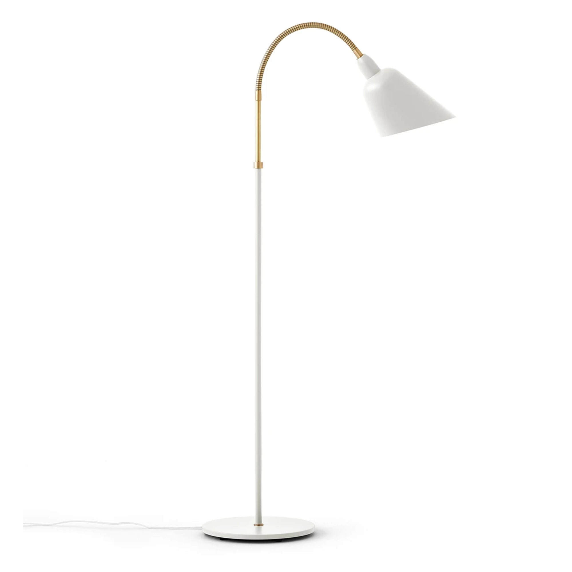 &Tradition AJ7 Bellevue Floor Lamp , White/Brass
