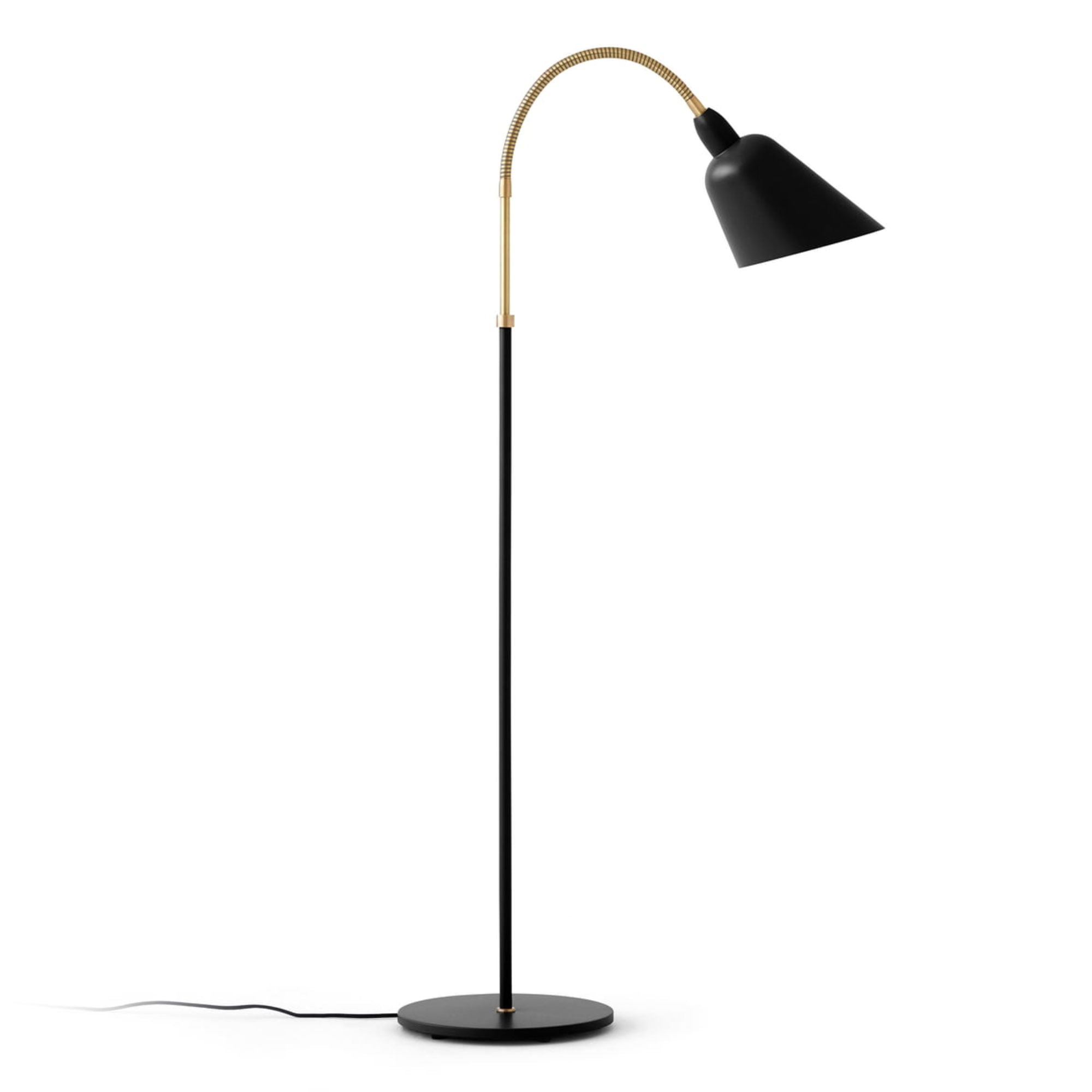 &Tradition AJ7 Bellevue Floor Lamp , Black/Brass