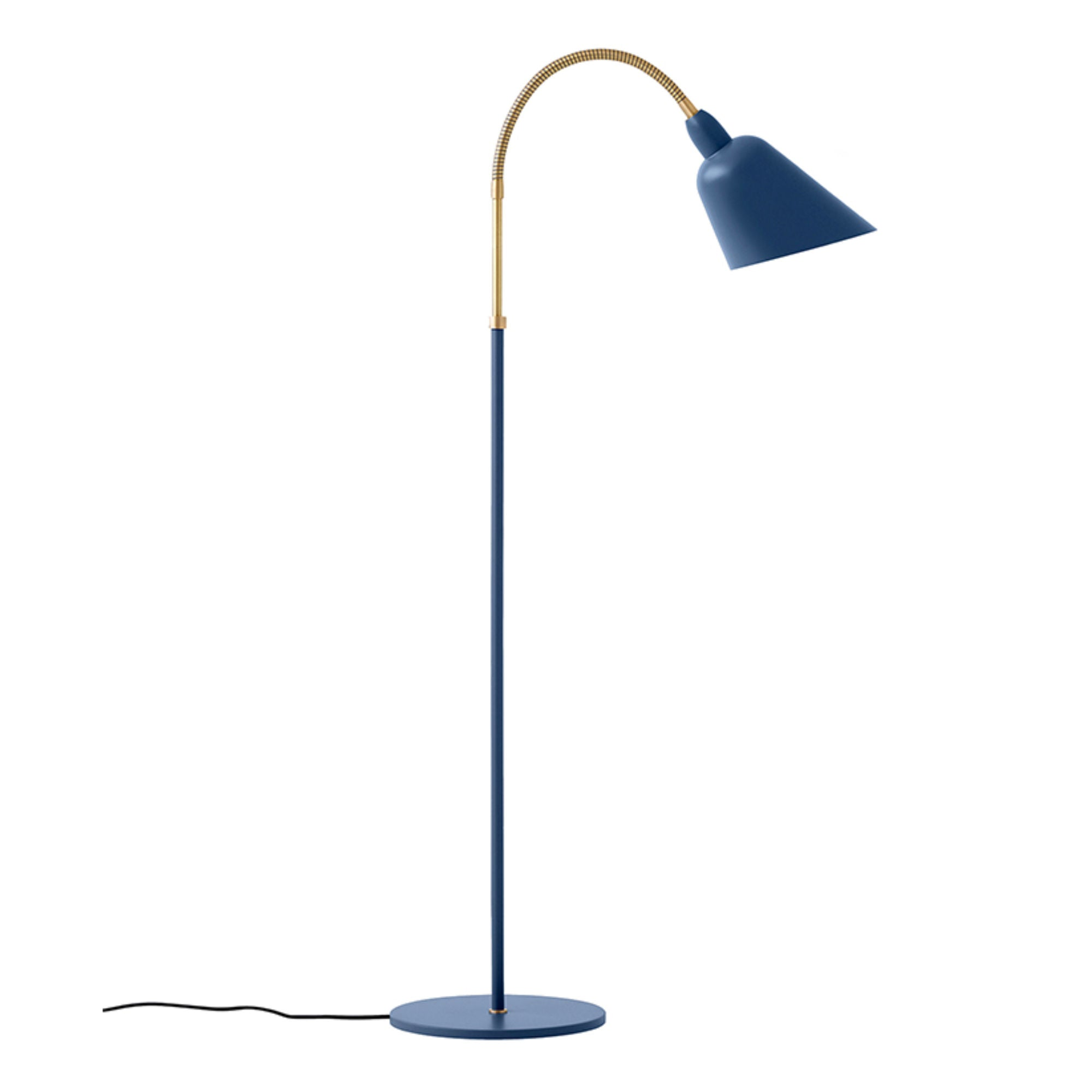 &Tradition AJ7 Bellevue Floor Lamp , Thunder Blue/Brass
