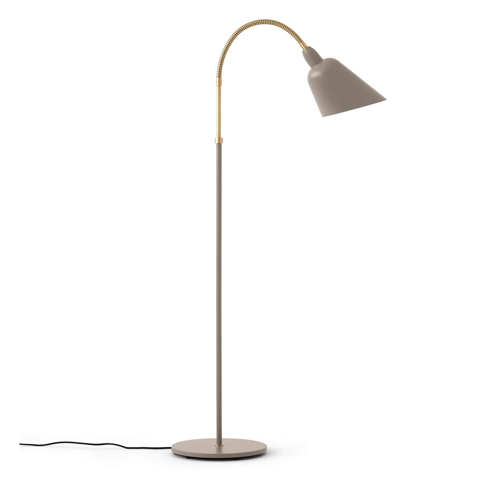 &Tradition AJ7 Bellevue Floor Lamp , Olive Brown/Brass