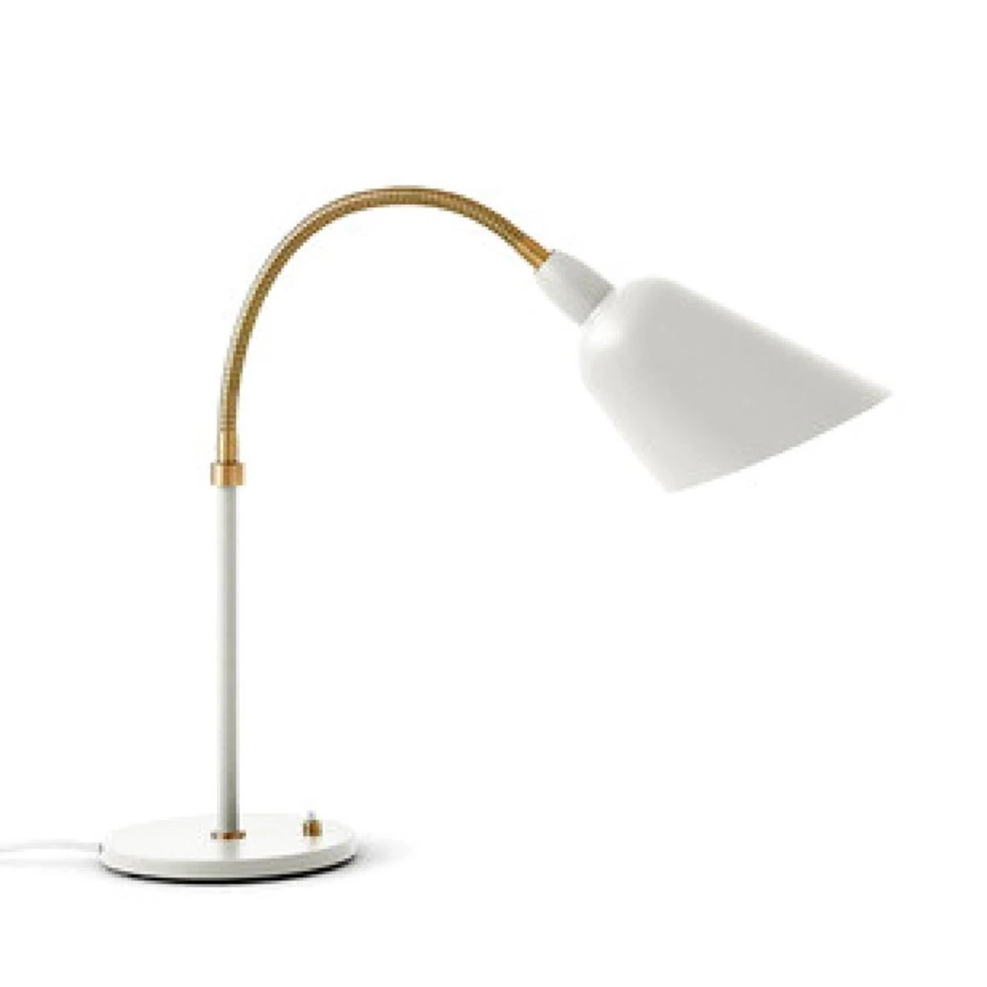 &Tradition AJ8 Bellevue Table Lamp , White/Brass