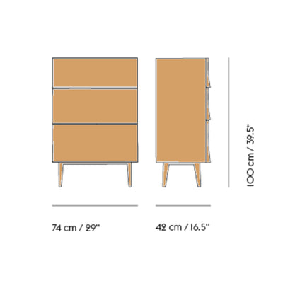 Muuto Reflect Drawer , Natural Oak