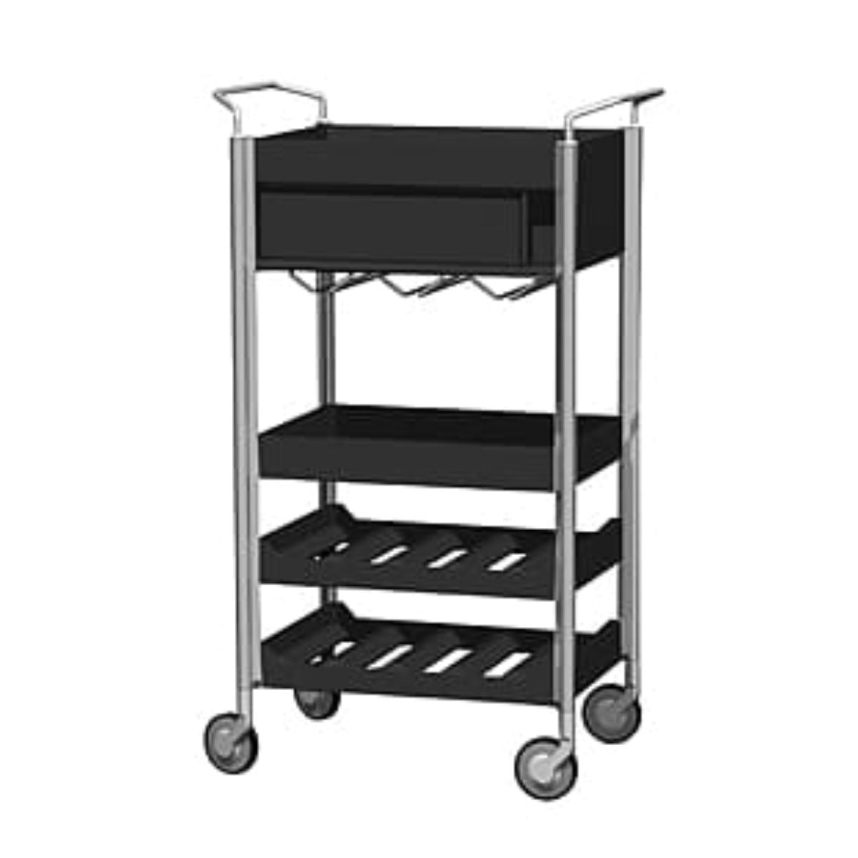 Studio Domo Ally Wine trolley, black