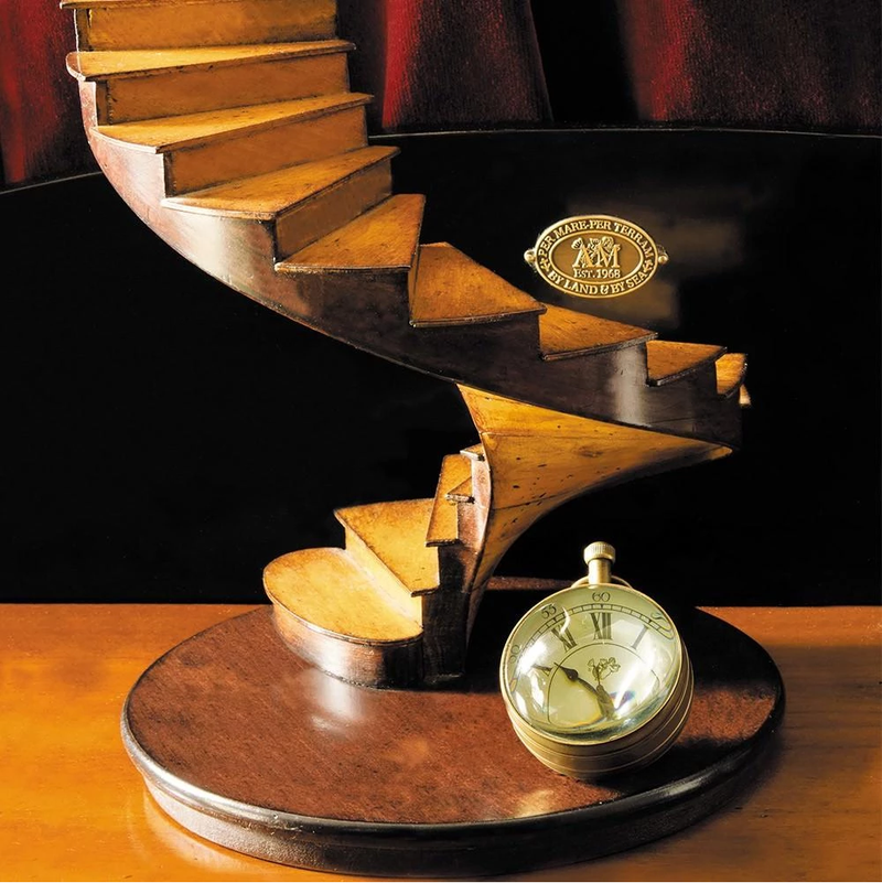 Authentic Models Spiral Stairs Wooden Model