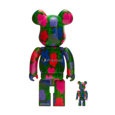 "BE@RBRICK Andy Warhol ""Flowers"" 100% & 400%"