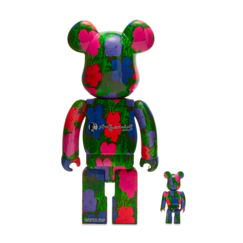 "Medicom Toy BE@RBRICK Andy Warhol ""Flowers"" 100% & 400%"