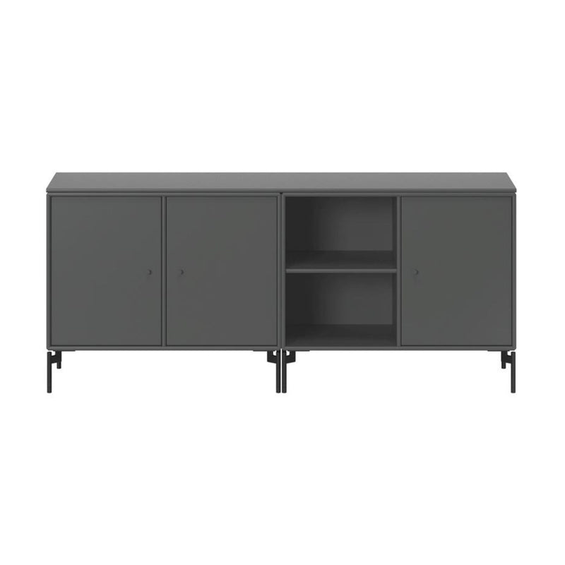 Montana Save sideboard with legs, 3 unit with door, 1 open-shelf