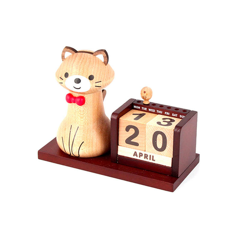 Wooderful Life wooden calendar, cat