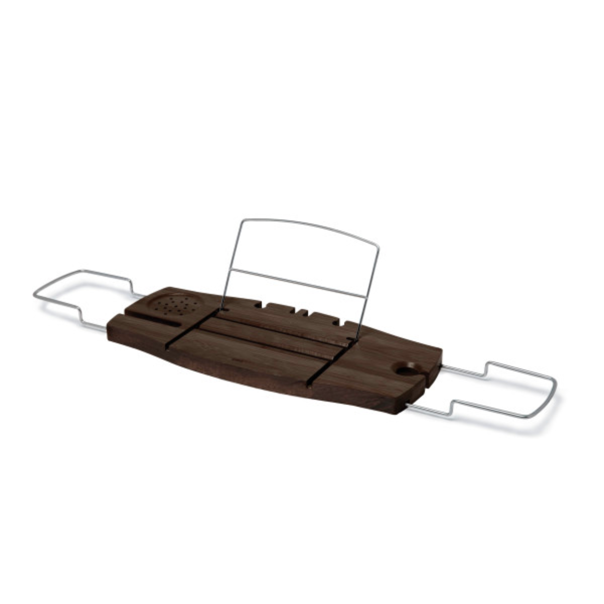 Umbra Aquala bathtub caddy, walnut