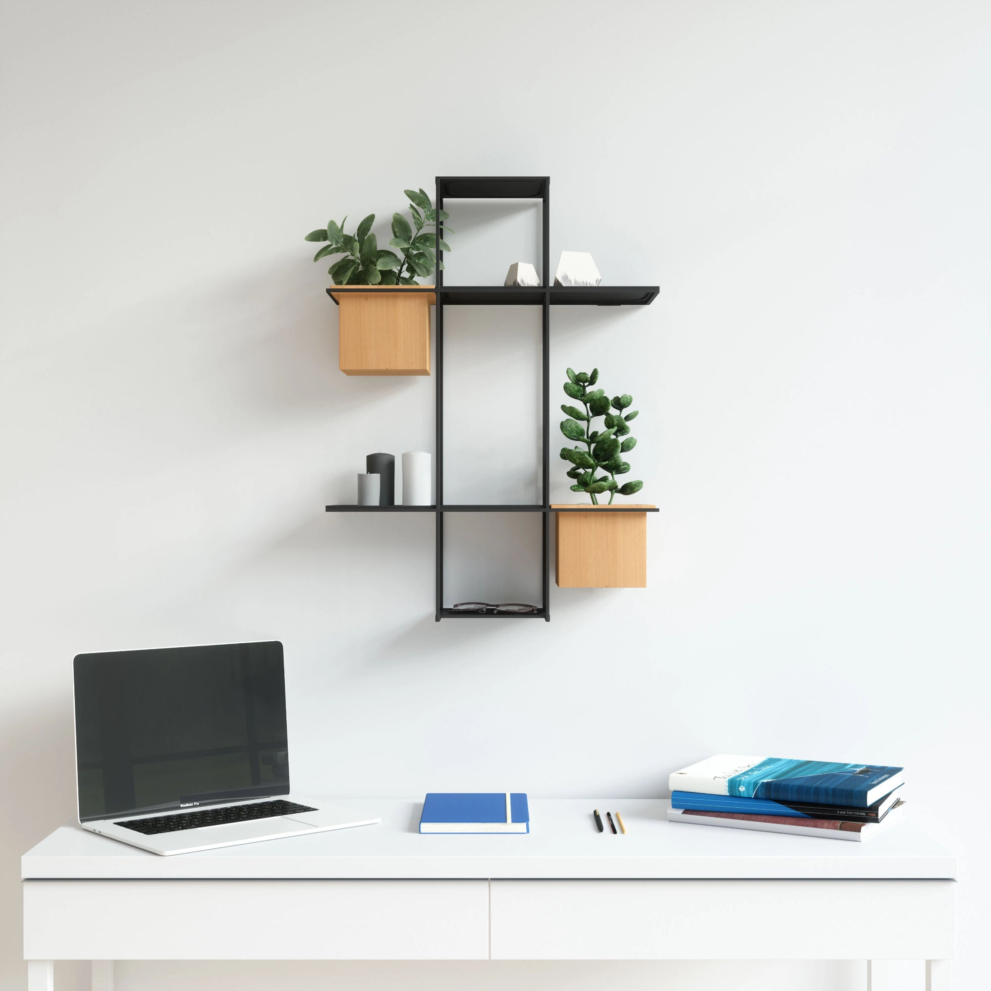Umbra Cubist Multi Shelf Wall Display , Sand-Black