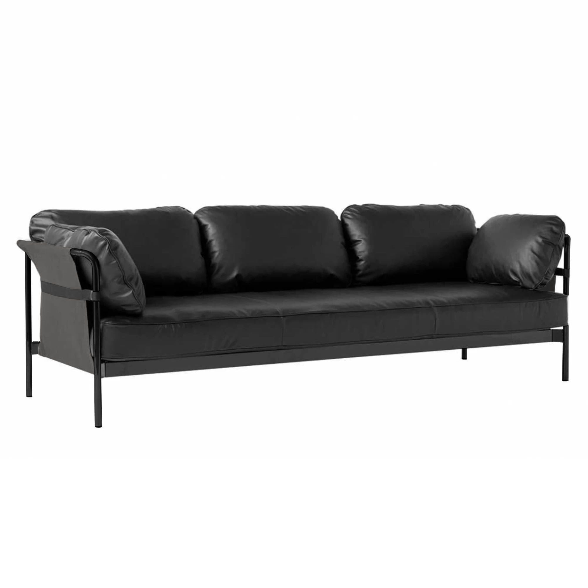 HAY Can 3-Seater Sofa 2.0 , Black-Grey-Silk0842