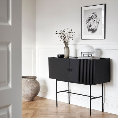Woud Array Sideboard 120cm , Black Painted Oak
