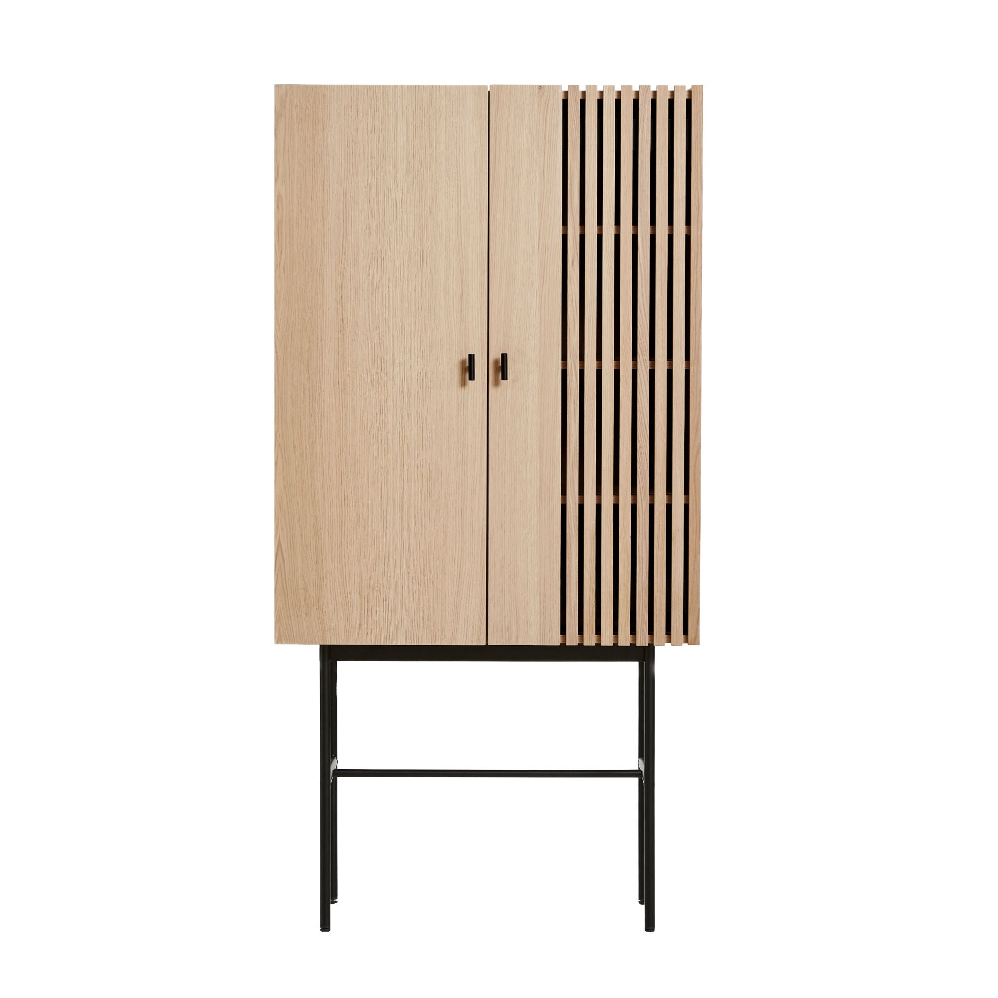 Woud Array Highboard , White Pigmented Oak