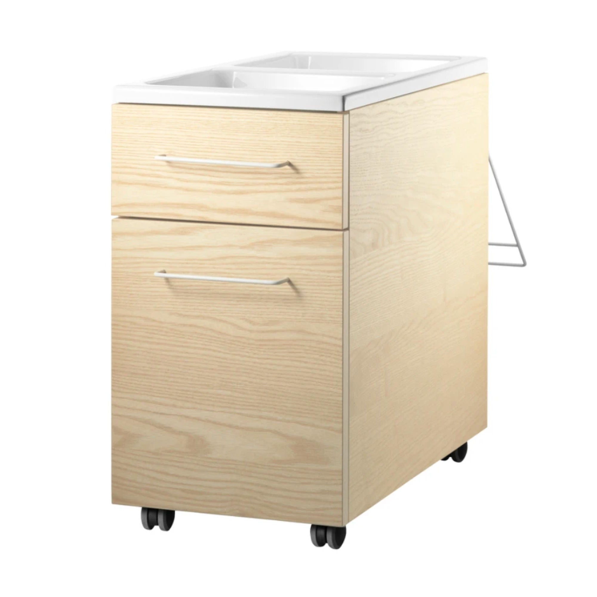 String Mobile Storage Units Drawers on Casters , Ash