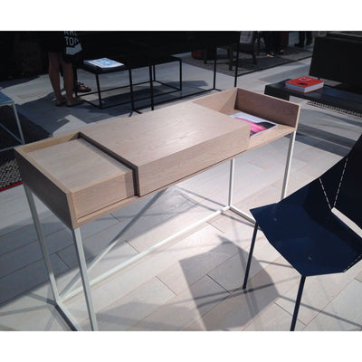 Blu Dot Swish console desk, ash - matt white