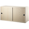 String Cabinet with Sliding Doors 78 * 42 * 30cm