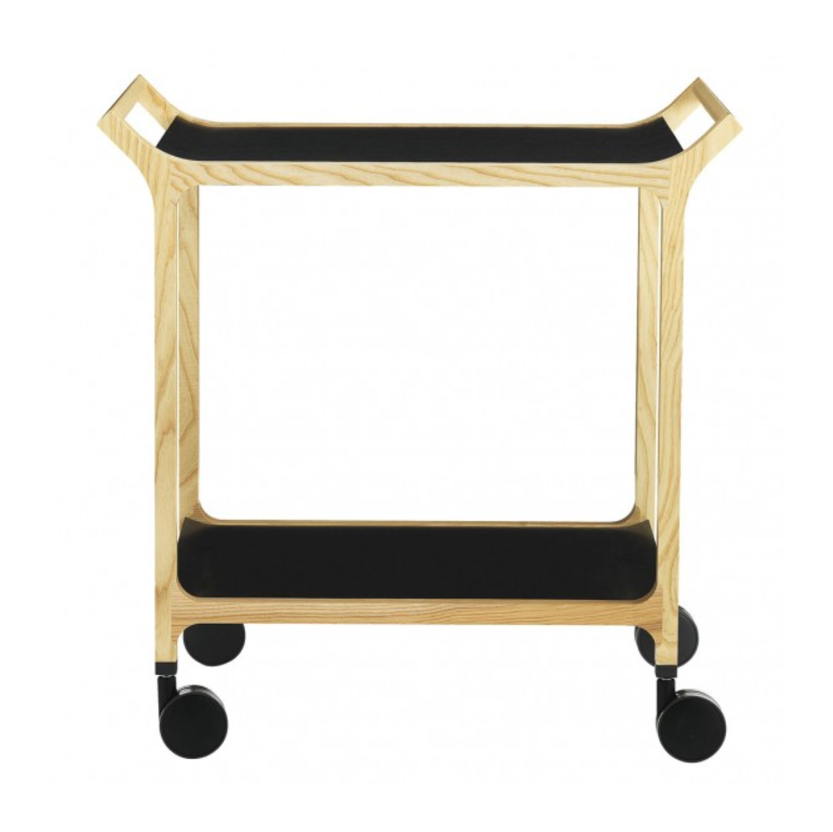 Swedese Teatime trolley with detachable tray, ash, black