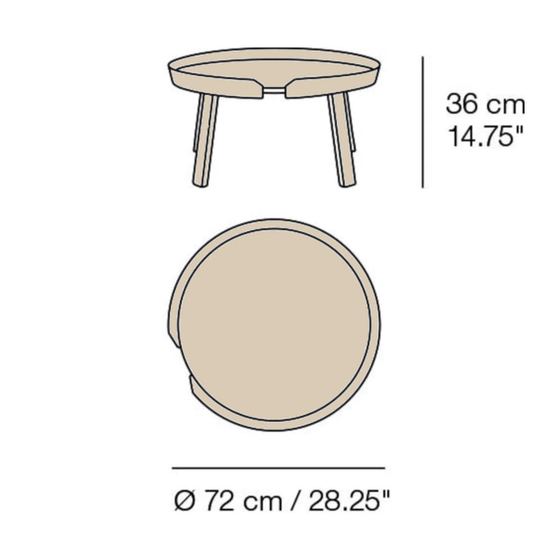 Muuto Around Coffee Table Large Ø72 , Ash