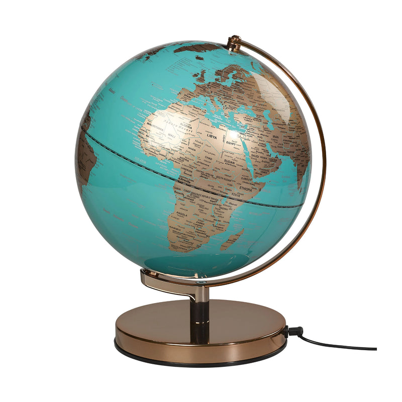 "Wild & Wolf Globe Light 10"" , Azure Blue-Metalic Copper"