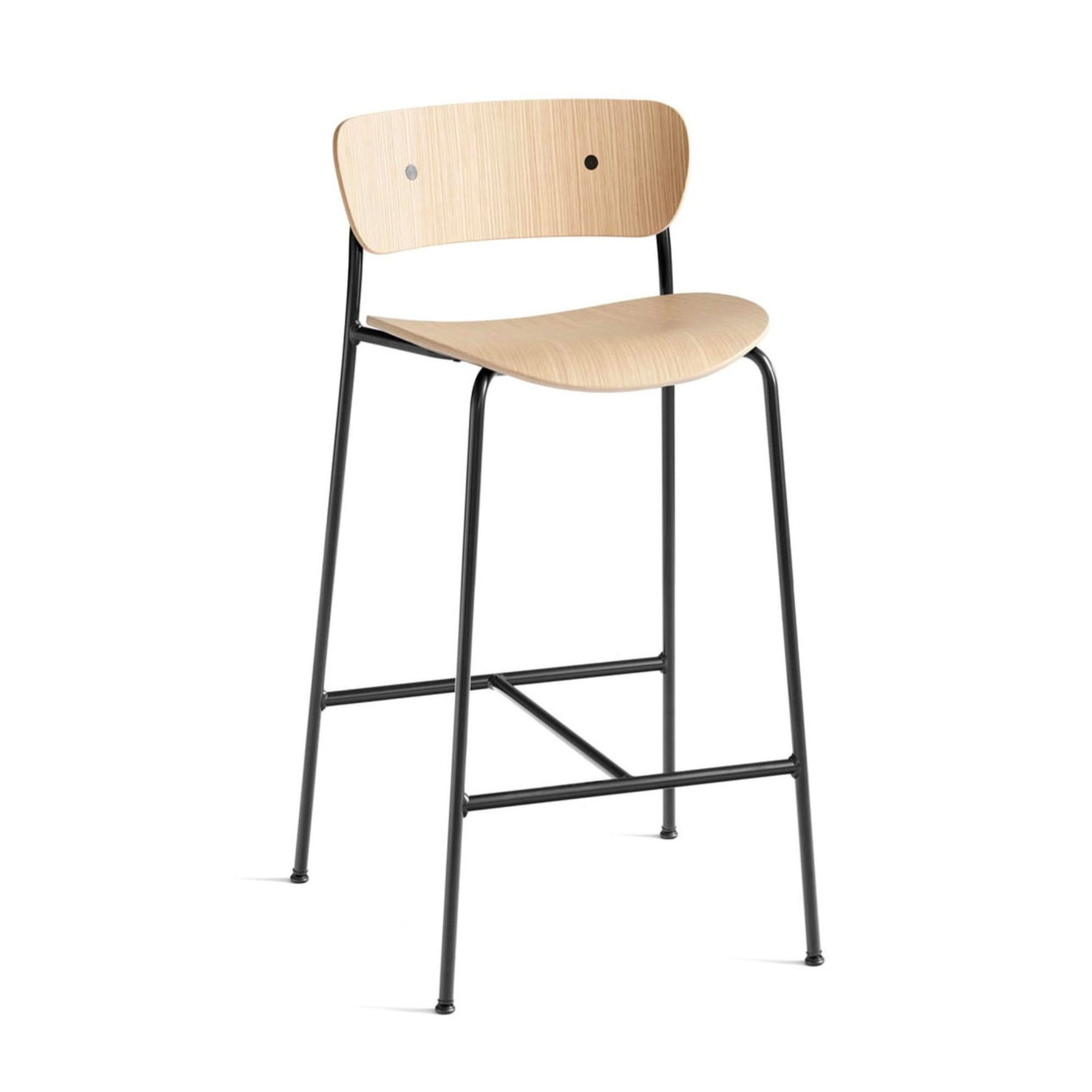 &Tradition Pavilion AV7 counter stool 65cm, oak - black legs