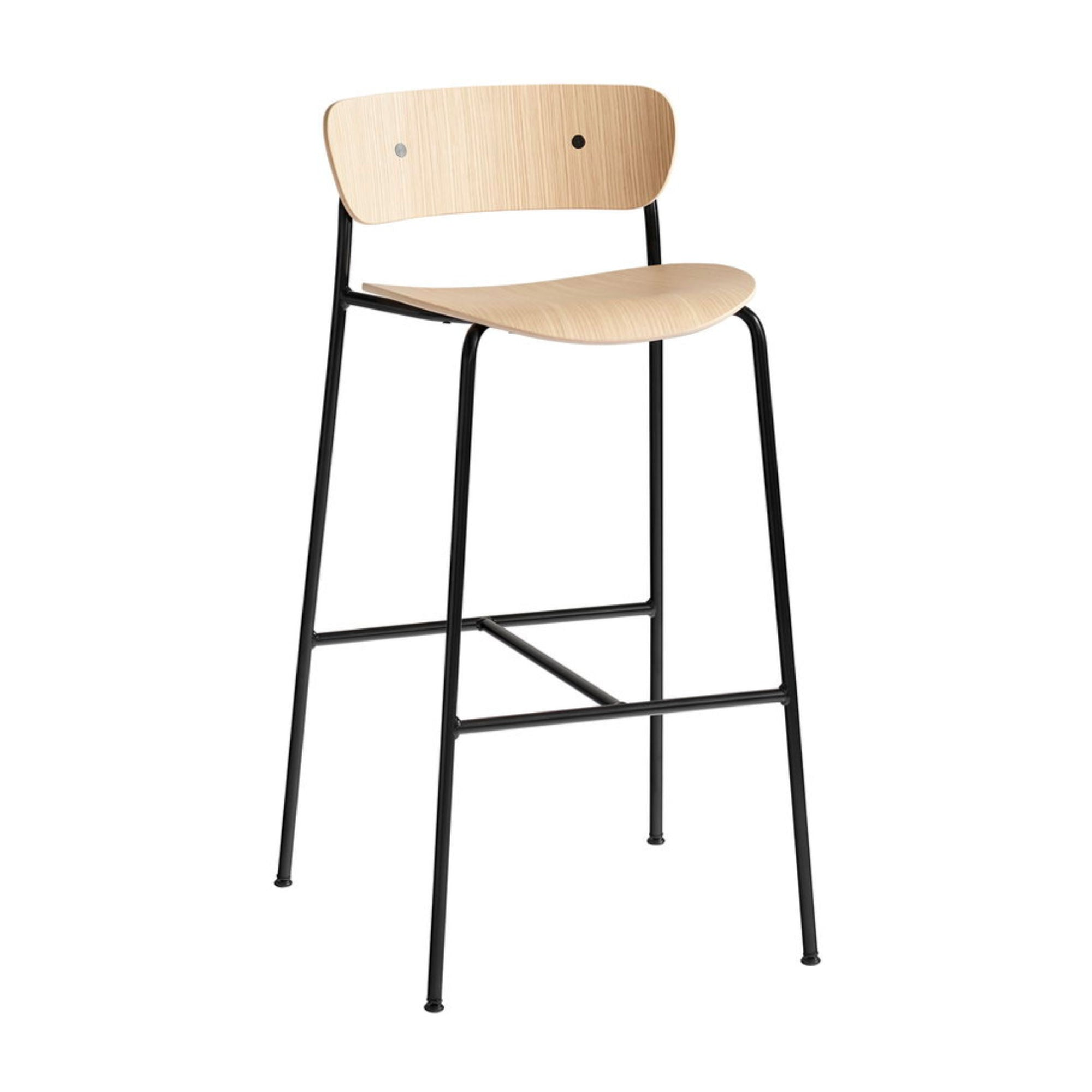 &Tradition Pavilion AV9 bar stool 75cm, oak - black legs
