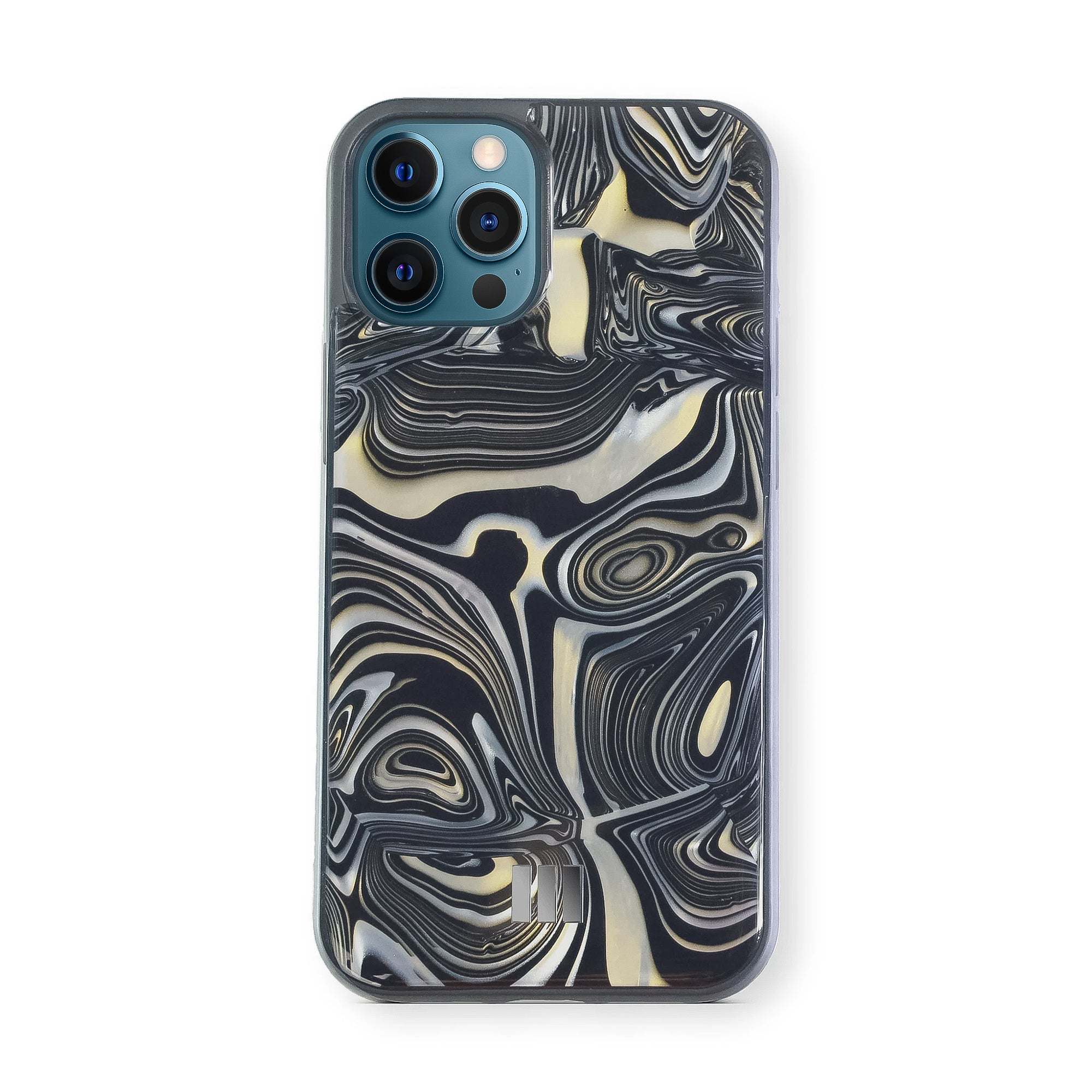 Mother Of Pearl Case for iPhone 12 Pro Max , Alchemy Black