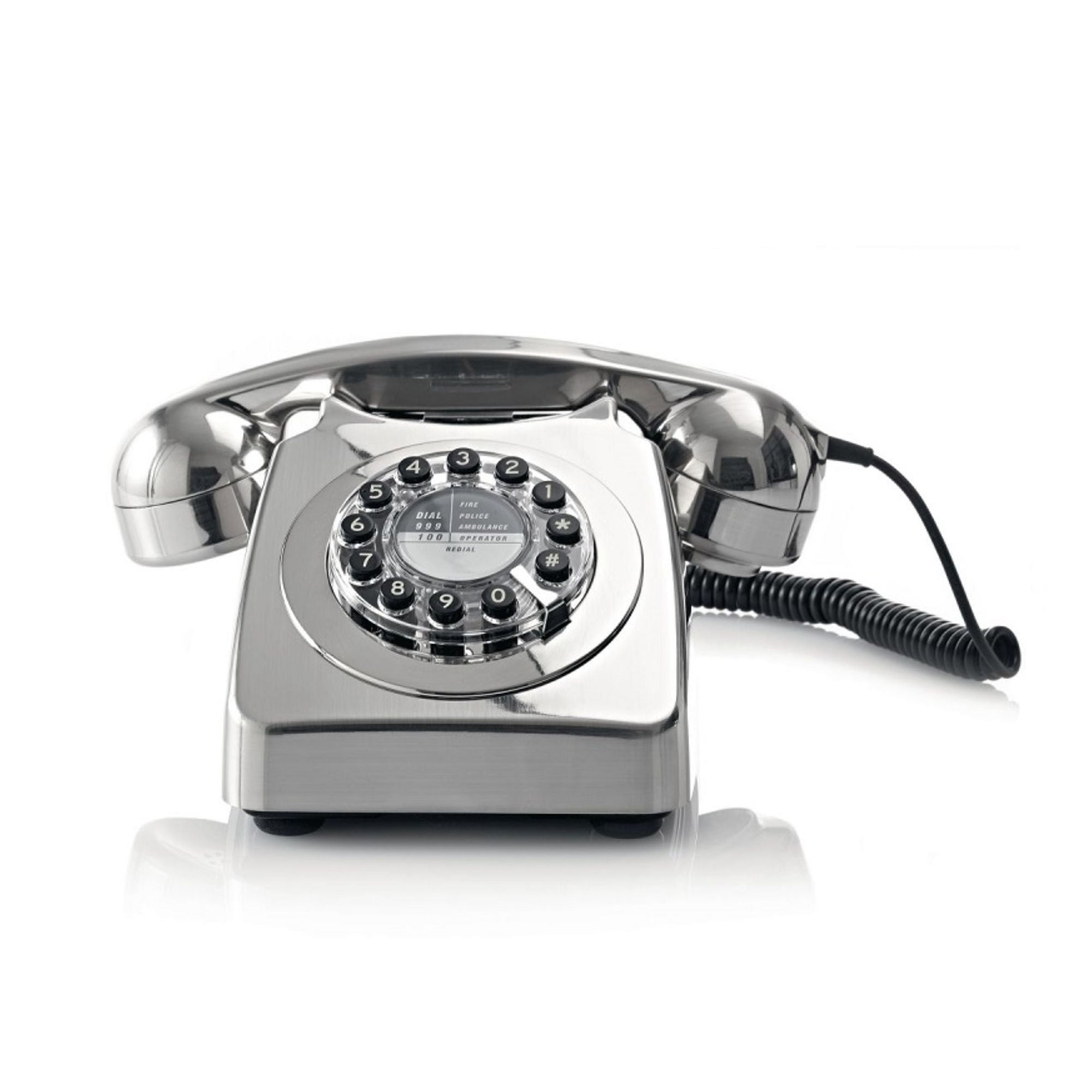 Retro 1960's 746 Telephone , Brushed Chrome