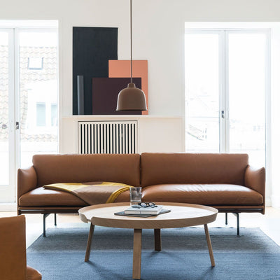 Muuto Outline sofa, 3-seater, refine leather cognac